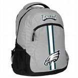 Philadephia Eagles Backpack, Silver, Green & White